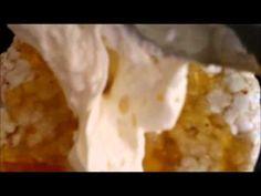 Indulgent rice cracker.  marmalade, cream and pineapple naughtiness
