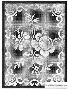 Be great for a doll house carpet Form Crochet, Crochet Doily Patterns, Crochet Home, Crochet Motif, Hand Crochet, Knit Crochet, Filet Crochet Charts, Tunisian Crochet, Irish Crochet