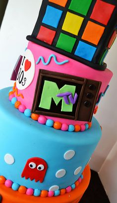 Cassette tape birthday cake Birthday Cakes Pinterest