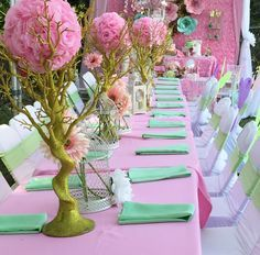 Loving the table settings at Samaya's Secret Garden 1st birthday party! See more party ideas at CatchMyParty.com