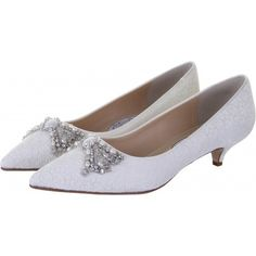 Diane Hassall Lady Penelope Ivory Floral Lace Vintage Wedding Shoes - SALE