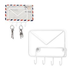Wall hook & envelope holder Mail metal, cool gifts and presents from Balvi.