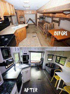 The Best RV & Camper Hacks Makeover Remodel Interior 13 Ideas
