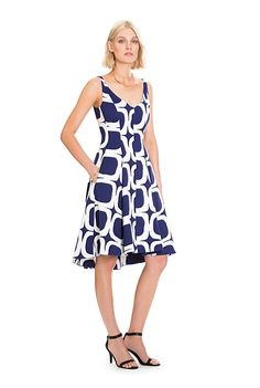 V-Neck Flare Dress Country Road