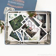 Caja metálica wonder - Pequeños recuerdos imborrables de grandes momentos insuperables #mrwonderful #box #caja #photos