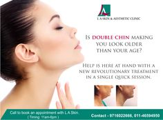 Is double chin making you look older than your age? Help is here at hand with a new revolutionary treatment in a single quick session.Call to book an appointment with L A Skin.   #DoubleChin #DoubleChinRemoval #LASkin