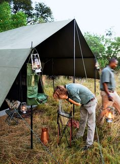 """Godwin opts for a mobile tented safari in Botswana's Okavango Delta—so his sons can see how the bush actually works. """"A qualified guide should open your eyes to the fascinating minutiae of what is going on around you."""" FUN FACT: Why don't predators attack you through the mosquito netting's thin, white fabric? Because it reflects ambient light and so appears to them as a substantial barrier."""
