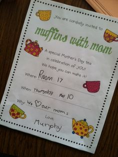 muffins with mom - wonderful unit for celebrating mother's day