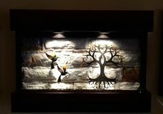 Nueva Fuente de Pared con Árbol de la Vida y Colibríes. Sus Medidas 90 Cm de Ancho X 60 Cm de altura. Solo de venta en www.natdeco.jimdo.com