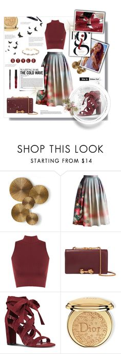 """""""Christmas Day Outfit"""" by madhu-147 ❤ liked on Polyvore featuring Arteriors, Chicwish, WearAll, Valentino, Nine West, Mercedes-Benz, Disney, Christian Dior and Marchesa"""