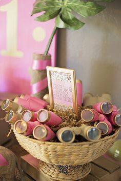 Pink & Gold Safari Glam Birthday Party Ideas   Photo 1 of 17   Catch My Party