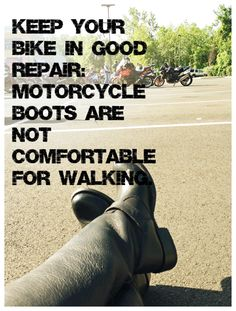Keep Your Bike in Good Repair!But if you have friend's they will come help YA! Motorcycle Posters, Motorcycle Quotes, Motorcycle Style, Harley Davidson Chopper, Harley Davidson News, Harley Davidson Motorcycles, Bike Humor, Bike Builder, Biker Quotes