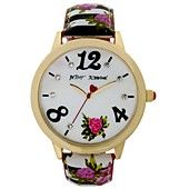 Betsey Johnson Women's Floral Print Strap Watch 44mm BJ00357-08/ Love the floral look.
