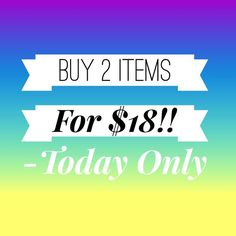 ❗️Huge Sale❗️ But 2 items for $18!! Bundle more than 2 items & you will get an additional discount.  Tops