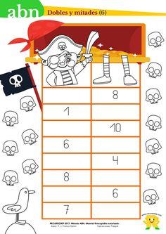 ¡Hola! En la entrada de hoy trataremos los dobles y las mitades de los números. El alumno podrá comenzar a trabajar este concepto usando los palillos que tanto se usan en el método ABN. CÁLCULO DE …
