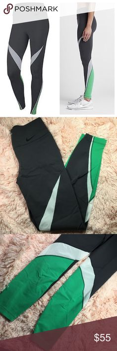 Nike legendary fabric twist veneer training tights In great condition size S Nike Pants Leggings