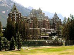 Banff springs hotel - Alberta, Canada.  A ghostly bellman still wanders the halls, and one room has been sealed completely, yet people report hearing sounds from it.