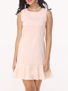 Fashionmia pink bodycon midi dresses - Fashionmia.com