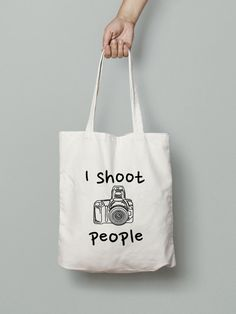 I Shoot People Tote Bag - Shopping Tote Bag - Canvas Tote Bag - Printed Tote Bag…