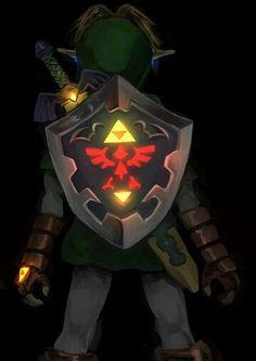 The Legend of Zelda escudo trifuerza