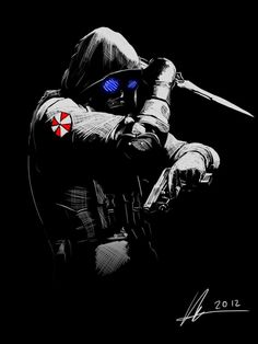Resident Evil Hunk, Umbrella Corporation, Fallout Art, Anime Military, Best Movie Posters, Skull Tattoo Design, Punisher, Drawing Reference, Game Art