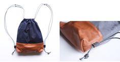 Wax Canvas Sensible Drawstring Backpack: Gardenista