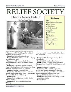 relief society newsletter template relief society newsletter template free | Relief Society Newsletter ...