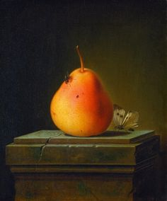 Justus Juncker, Still Life with Pear and Insects, 1765