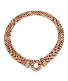 Look at this Rose Gold Popcorn Fancy Italian Bracelet on #zulily today!