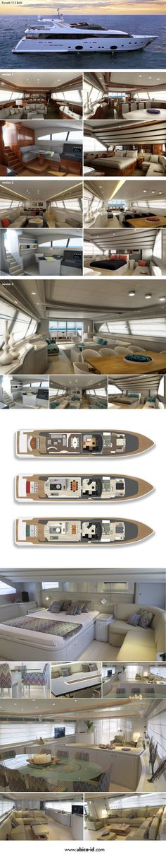 Ferretti 112 Refit by ubica-id #Yacht #Yachtdesign #Refit #Ferretti