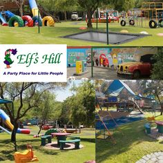 Elfs Hill in Fourways has a 275 square metre farmhouse-style hall with a fireplace, a covered patio and a braai pit.  The grassed play area is 3500 square metres and contains a jungle gym, a tree house, a dolls' house, a kiddies' petrol station, a trampoline and much much more. . . . . #elfshill #fourwaysvenue #kidsparties #kidsvenue #kidspartyvenues #outdoorparty #indoor #playground #parties #opendays #childrenpartyvenue