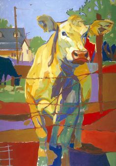 """I like your cow. Cow Painting, Surrealism Painting, Modigliani, Cow Art, Longhorns, Wildlife Art, Animal Paintings, Pet Portraits, Farm Animals"