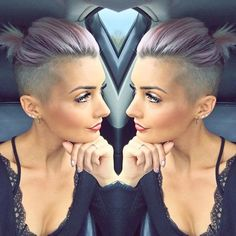 11 super cool short hairstyles with sidecut Undercut Long Hair cool Hairstyles Short sidecut Super Shaved Undercut, Short Hair Undercut, Pixie With Undercut Shaved Sides, Pixie Mohawk, Shaved Pixie, Short Braids, Cool Short Hairstyles, Pixie Hairstyles, Undercut Hairstyles Women