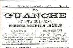 """Revista """"El Guanche"""" (1897-1898)."""