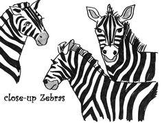 Painted Zebra Art Lesson