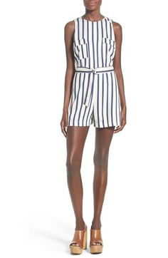 ASTR 'Go Your Own Way' Stripe Romper available at #Nordstrom