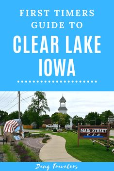 First time visiting Clear Lake Iowa? Here are all the best things to see and do on your weekend getaway. This Midwest lake town is as charming as it gets. Make sure to add biking, music, good food, parks, and a cruise on the lake to your itinerary! #clearlake #midwest #lakes