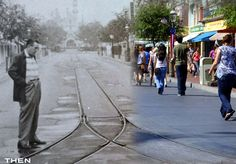 old and new pictures mixed together