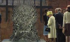 Queen Elizabeth takes the Iron Throne