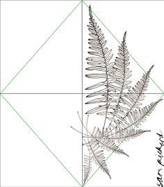 Fern tattoo idea Planet Sam: How to design a simple mirrored block repeat...