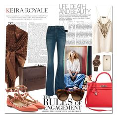""":)"" by aleksslaa ❤ liked on Polyvore featuring Hermès, Louis Vuitton, Vera Wang, Citizens of Humanity, Frédérique Constant, Valentino and H&M"