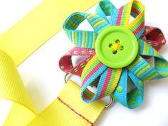 Pacifier Clip Girl Paci Clip Ribbon Flower