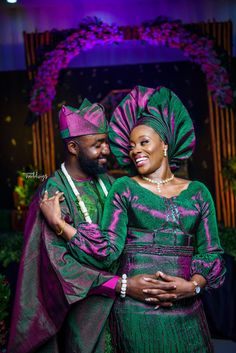 Igbere in Abia state certainly was not ready for the beauty that is Wendy and Tosin's Igbo- Yoruba traditional wedding African Traditional Wedding Dress, Traditional Wedding Attire, Traditional Dresses, Traditional Weddings, African Fashion Ankara, Latest African Fashion Dresses, African Style, Lace Dress Styles, African Lace Dresses