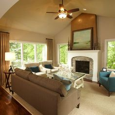 Family Room Tan Couch Design, Pictures, Remodel, Decor and Ideas - page 11