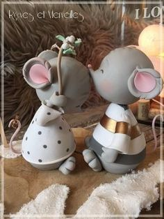 Pin by Claudia Kriebs on Kreativ Polymer Clay Ornaments, Cute Polymer Clay, Cute Clay, Polymer Clay Miniatures, Fimo Clay, Polymer Clay Crafts, Polymer Clay Creations, Fondant Animals, Clay Animals
