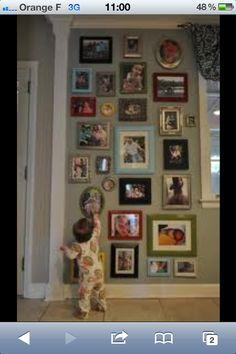 Paar lijstjes aan de muur