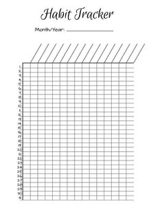 Free Printable Monthly Habit Tracker Download Template Diy Resize