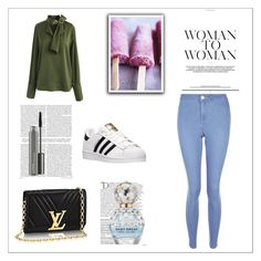 """""""Untitled #62"""" by fashionista-z-cx ❤ liked on Polyvore featuring Chicwish, New Look, adidas, Balmain, Marc Jacobs and MAC Cosmetics"""