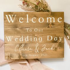 Welcome To Our Wedding, Wedding In The Woods, Our Wedding Day, Country Barn Weddings, Wood Wedding Signs, Guest Book Alternatives, Rustic Signs, Wedding Themes, Hand Painted