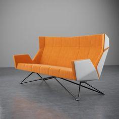 Christian Kroepfl - Architect & Designer in Vienna - Christian Kröpfl Metal Furniture, Modern Furniture, Furniture Design, Wood And Metal, Solid Wood, Vienna, Designer, Love Seat, Christian